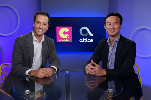 Cheddar Founder and CEO Jon Steinberg and Altice USA CEO Dexter Goei (Photo: Business Wire)