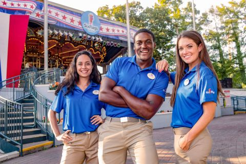 Saturday, May 4 is National Hiring Day at Six Flags. Thousands of great jobs are available. (Photo: Business Wire)
