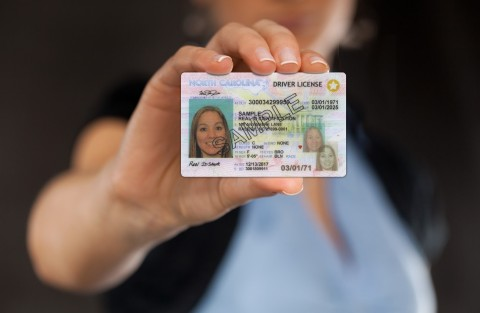North Carolina's Division of Motor Vehicles (NCDMV) is realizing a dramatic reduction in customer card replacements and attempted fraud through the use of PPG TESLIN® substrate for driver's licenses and identification cards in the state's two-year-old REAL ID program. After extensive research and evaluation, the NCDMV selected the PPG Teslin substrate composite card construction because it accommodates all of the state's performance and security requirements at one-third the cost of a competing polycarbonate (PC) card construction. (Photo: Business Wire)