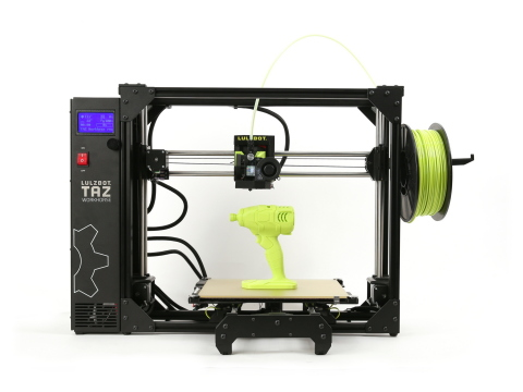 The new LulzBot TAZ Workhorse is the much-anticipated next generation of the award-winning TAZ 6. It has a reinforced frame and sturdier electrical connectors for unparalleled durability while improving upon the already impressive print quality. (Photo: Business Wire)