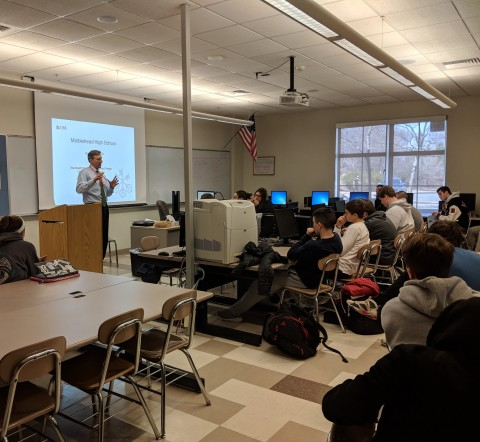 Jeffrey Swett, managing director of the Swett Wealth Management Group, teaches a group of Marblehead High School students on the importance of financial literacy. (Photo: Business Wire)