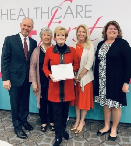 Phil Ward (COO), Bobbie Hoover (Director, Home and Long Term Care), Mary McElroy (SVP, Hospice Services), Christina McCurdy (Director, Inpatient Services), Jennifer Martin (Director, Psychosocial Services) (Photo: Business Wire)