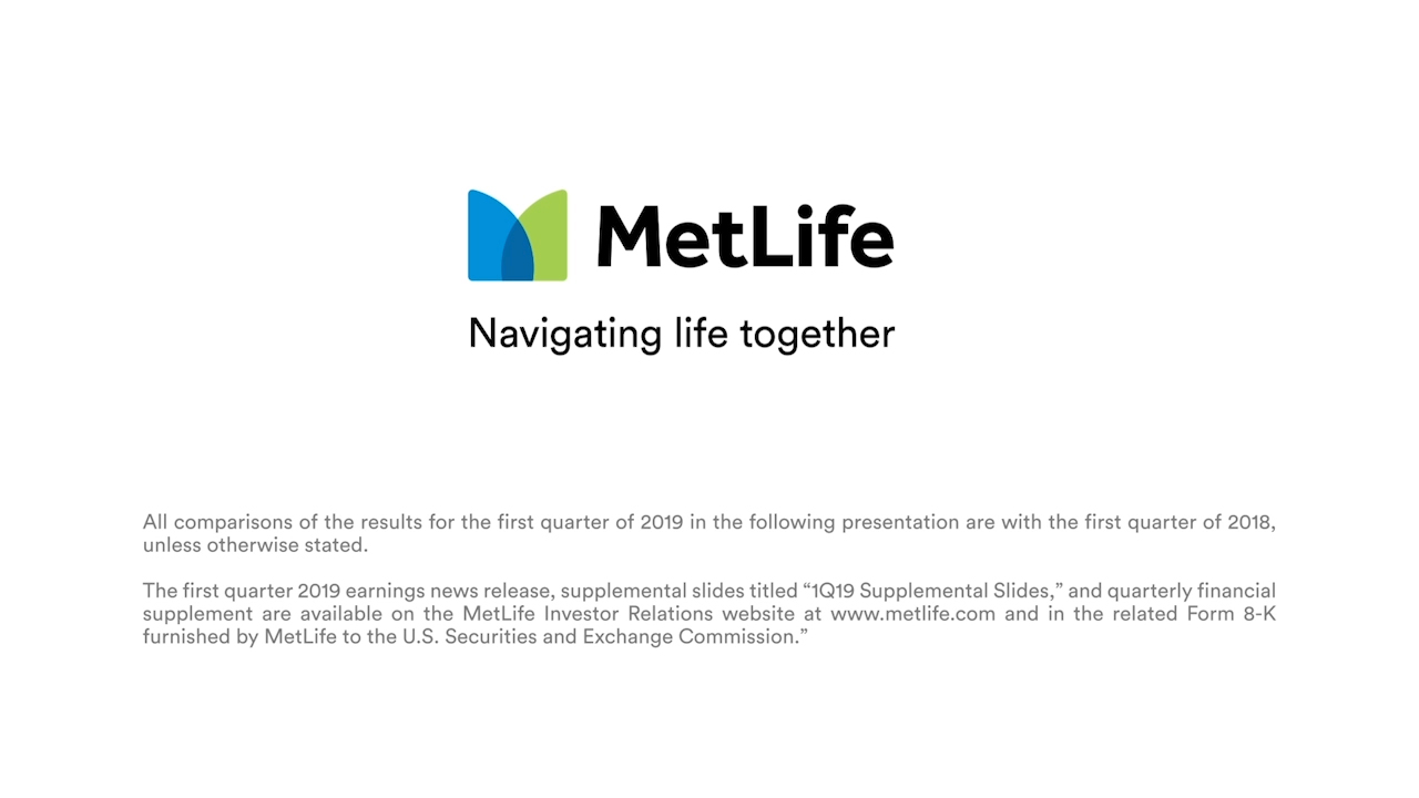 MetLife CFO John McCallion Provides First Quarter 2019 Financial Update (Video: Business Wire)