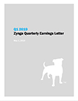 Q1 2019 Zynga Quarterly Earnings Letter