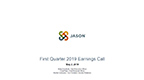 JASN First Quarter 2019 Earnings Call Slides