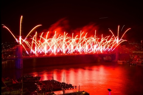 On Thursday, July 4, the world-famous Brooklyn Bridge will launch thrilling effects as the centerpie ...