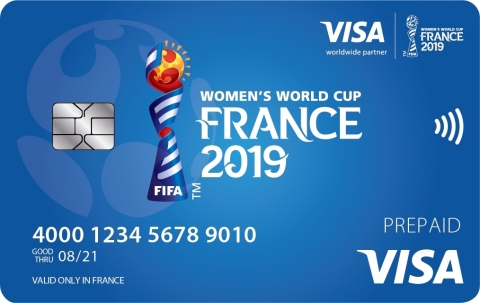 Commemorative contactless Visa prepaid cards and payment-enabled wristbands will be available at Visa customer service booths in all official venues at the FIFA Women's World Cup France 2019™ (Photo: Business Wire)