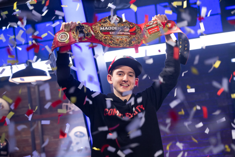 Drini Gjoka wins the Madden NFL 19 Bowl becoming Madden NFL 19 champion (Photo: Business Wire)