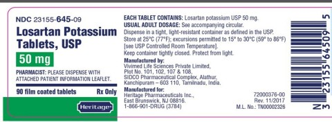 50mg 90s label for Heritage (Graphic: Business Wire)