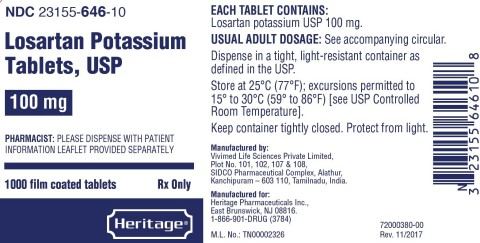 100mg 1000s label for Heritage (Graphic: Business Wire)
