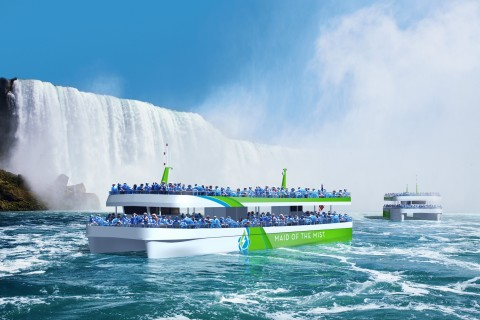 Maid of the Mist new passenger vessels sailing on pure electric power, enabled by ABB's technology (Photo: Business Wire)
