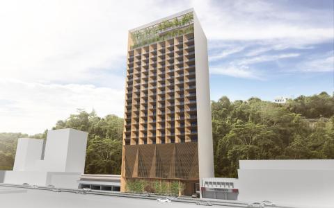 Exterior of Hyatt Centric Kota Kinabalu (Photo: Business Wire)