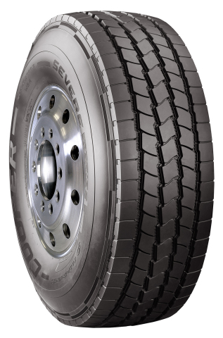 Cooper's new SEVERE Series WBA commercial truck tire provides long miles to removal while handling the harsh operating conditions found in construction truck applications. (Photo: Business Wire)