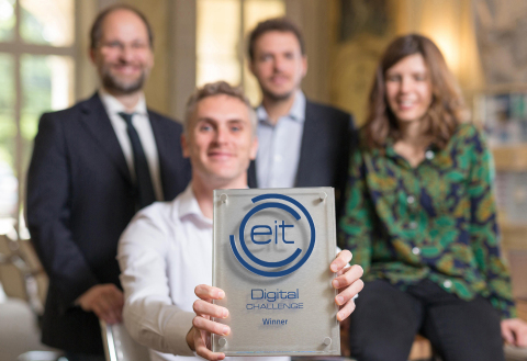 Lucky winners of the EIT Digital Challenge 2018: Italian scaleup Enerbrain (Photo: Business Wire)