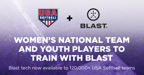 USA Softball & Blast Motion Announce Partnership (Graphic: Business Wire)
