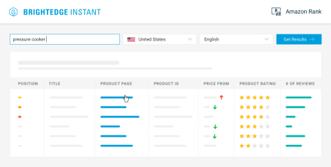 See how you rank and perform on Amazon with BrightEdge Instant (Graphic: Business Wire)