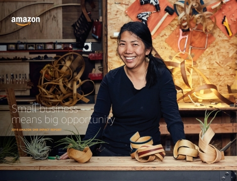 The 2019 Amazon SMB Impact Report highlights how millions of small and medium-sized businesses are growing with Amazon. (Photo: Business Wire)