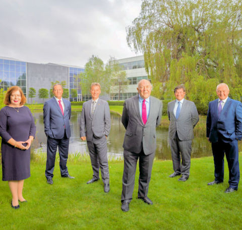 l-r Anne O'Driscoll, Martin Fahy, Michael Kelly, Peter Le Beau, Gilles Biscay, Tom Wall (Photo: Busi ...