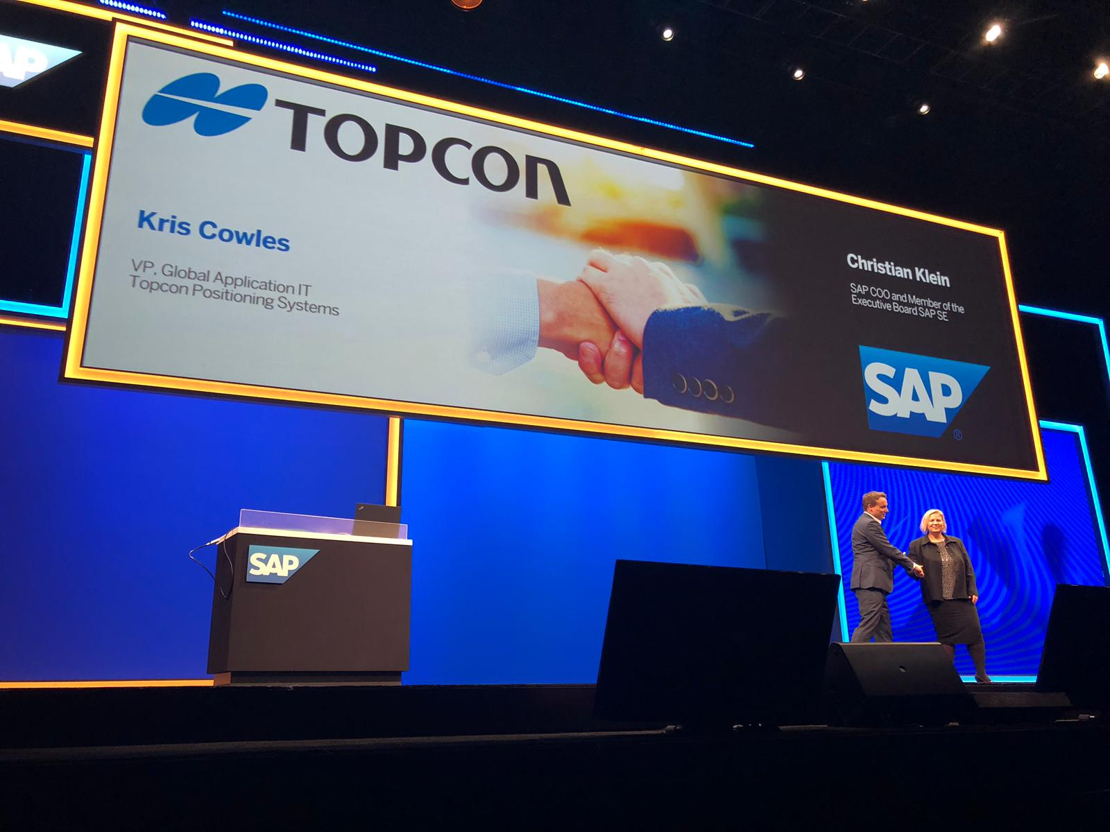 Topcon Featured in Keynote Presentation at SAP Conference | Business