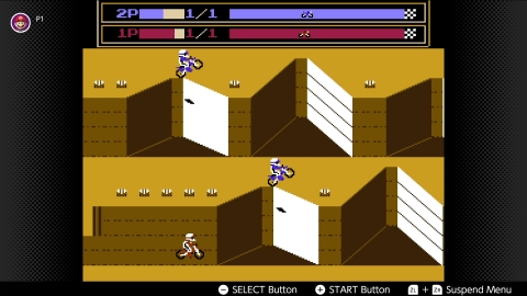 Fans love the Excitebike™ game for its frenetic races, high stakes and sweet jumps. With this game, you can take it to the next level with the Famicom™ disk version of VS. Excitebike – complete with two-player split screen. (Graphic: Business Wire)