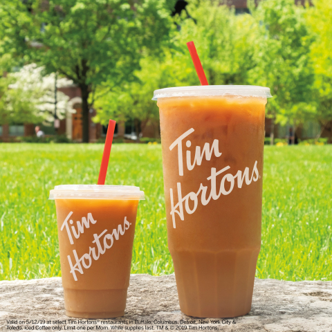 Tim Hortons® U.S. Introduces Mom-Sized Iced Coffee Free for Mom on Mother's Day (Photo: Business Wire)