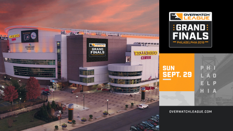 The 2019 Overwatch League Grand Finals will take place at the Wells Fargo Center in Philadelphia (Graphic: Business Wire)