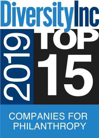 Aramark, a global leader in food, facilities management and uniforms, has been named a DiversityInc Top 15 Company for Philanthropy. (Graphic: Business Wire)