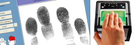 Livescan fingerprint authentication (Credit: Thales)