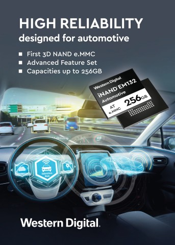Western Digital iNAND AT EM132 Embedded Flash Drive Designed for Automotive Applications