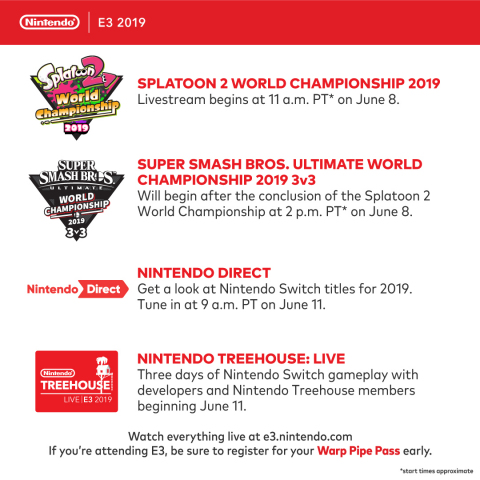 Nintendo has outlined its plans for the E3 2019 video game trade show, which takes place June 11-13 at the Los Angeles Convention Center. (Graphic: Business Wire)