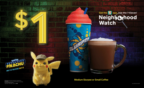 "7-11 ""POKÉMON Detective Pikachu"" Storefront Display (Graphic: Business Wire)"
