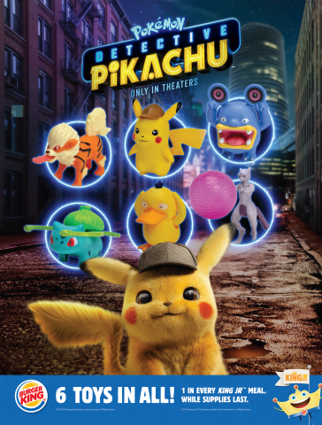 "Burger King promotion for ""POKÉMON Detective Pikachu"" Premium (Graphic: Business Wire)"