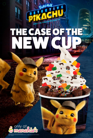 "Menchie's Frozen Yogurt promotion for ""POKÉMON Detective Pikachu"" (Graphic: Business Wire)"