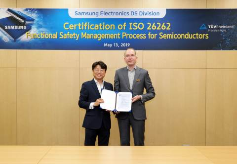 Samsung's automotive semiconductors with ISO 26262 certification (Photo: Business Wire)