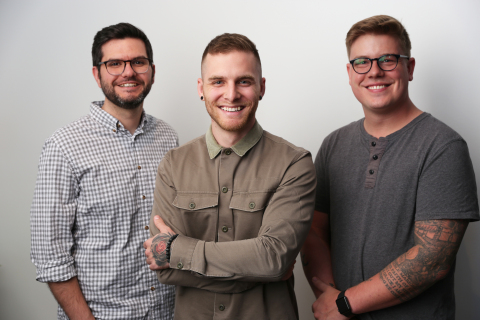 From left: Soundstripe Co-Founders Travis Terrell (Co-CEO), Trevor Hinesley (CTO), and Micah Sannan (Co-CEO)