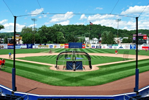 BB&T Ballpark at Historic Bowman Field in Williamsport, Pa., home of MLB's Little League Classic presented by GEICO. BrightView Landscapes, Official Field Consultant to Major League Baseball, renovated the field, bringing it to MLB standards. (Photo: Business Wire)