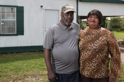 A retired housekeeper in Louisiana received a $5,200 Special Needs Assistance Program grant from First National Bank of Jeanerette and FHLB Dallas to fund critical repairs to her home. (Photo: Business Wire)