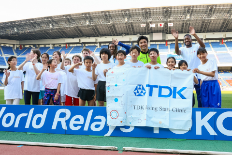 TDK's Rising Stars Clinic gave young people a chance to interact with world-class athletes at Yokohama's Nissan Stadium (Photo: Business Wire)