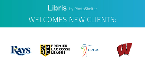 Libris by PhotoShelter welcomes prominent new clients across the sports industry. (Graphic: Business Wire)