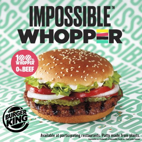 BURGER KING® RESTAURANTS INTRODUCES THE PLANT-BASED IMPOSSIBLE™ WHOPPER® IN THREE NEW MARKETS (Photo: Business Wire)