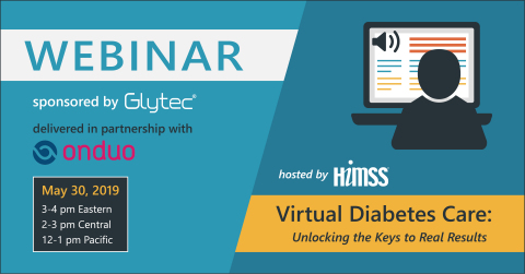 Glytec and Onduo, who formed a business alliance last year, are partnering with HIMSS on a webinar that explores the keys to augmenting traditional brick-and-mortar care with virtual care for people with diabetes. (Graphic: Business Wire)