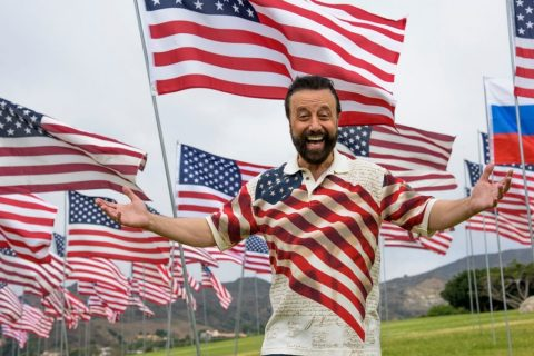 Legendary comedian Yakov Smirnoff stands on the grounds of Pepperdine University where he will be awarded his doctorate from Pepperdine's Graduate School of Education and Psychology on May 18. (Photo: Business Wire)