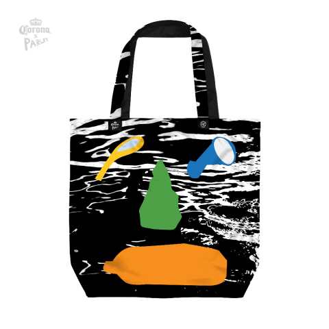 Limited-edition, reusable bag designed by Stephanie Gilmore in partnership with Nadia Hernandez to support the ban against single-use plastic. (Photo: Business Wire)