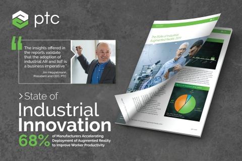 "PTC发布2019年""工业创新现状""系列报告。(图示:美国商业资讯)"