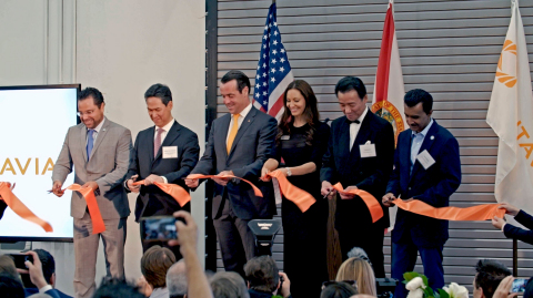 Sintavia's grand opening was attended by over 150 customers and industry partners on May 9th, 2019. From left to right, Mayor Josh Levy, City of Hollywood; Mr. Masaki Nakajima, CEO and President of Sumitomo Corporation of Americas; Brian Neff, Sintavia's Founder, CEO, and Co-Owner; Jana Neff, Sintavia's Co-Owner; Mr. Toyoyuki Sato, Corporate Officer of Taiyo Nippon Sanso Corporation; and Dr. Wazir Ishmael, City Manager of Hollywood, Florida. (Photo: Business Wire)