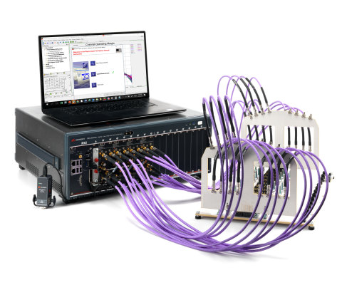 Keysight Technologies M9804A multiport test setup (Photo: Business Wire)