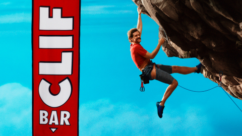 "CLIF climber logo comes to life in new campaign to ""Make It Good."" (Graphic: Business Wire)"
