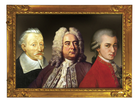 A Trio of Great Choral Composers: Schütz, Handel and Mozart. (Graphic: Business Wire)