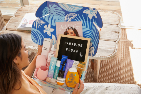 The FabFitFun Summer Box is now available in the UK (Photo: Business Wire)