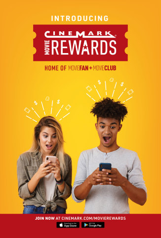 Cinemark Movie Rewards is a two-tiered loyalty program that gives members one point for every one dollar spent at Cinemark. Members can redeem points for a variety of rewards including movie tickets, concession deals, and movie swag. Members can join for free as a Movie Fan member, or upgrade to Movie Club for a monthly subscription fee. (Photo: Business Wire)